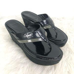Coach Women's Jody Shoes Black Wedges Size 6B